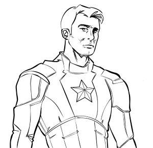 Capitán América. Ilustración