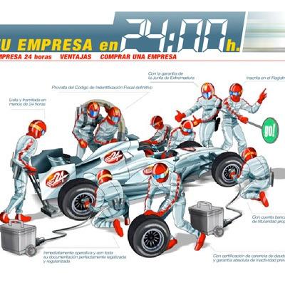 Maqueta ilustración empresa 24 hrs
